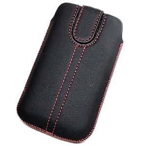 Acce2S - Funda de piel sintética para Motorola Razr HD, color negro