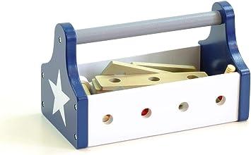 Juego herramientas, caja de herramientas de madera de Kids Concept: Amazon.es: Juguetes y juegos