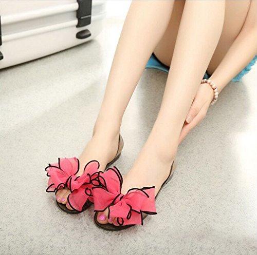 Shoes Woman Beach Omgard Flats Women Slip Flip Jelly Flops On Red Sandals Summer Thong qUX7XwI