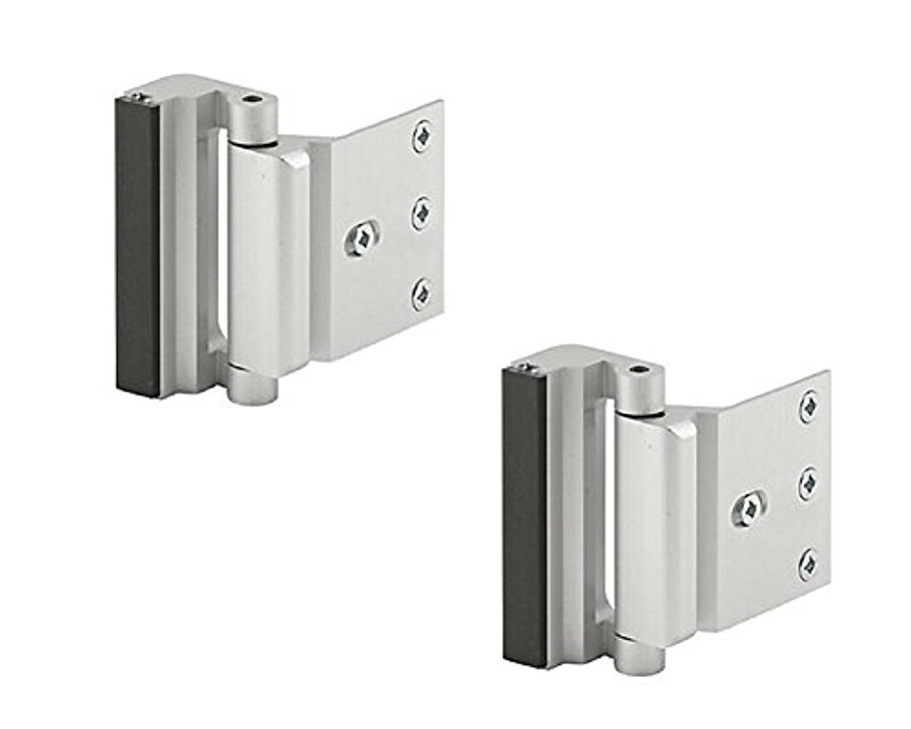 Prime Line High Security 3 Inch Door Reinforcement Lock U-10827 Satin Nickle Finish (2 Pack)