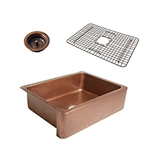 511FMVZxxGL._SS300_ Copper Farmhouse Sinks & Copper Apron Sinks
