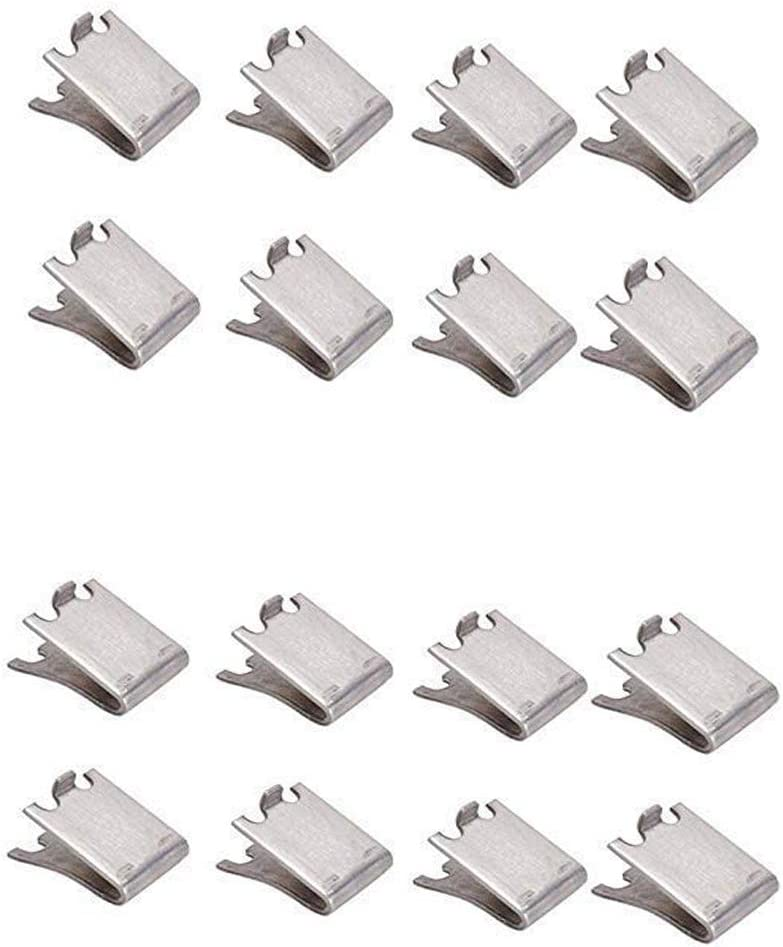20 Packs Stainless Steel Shelf Clip Freezer Cooler Shelf Support Shelf Square Clips for Refrigerator