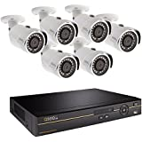 Q-See QC968-6DX-2 | Surveillance System with 8-Channel HD Analog DVR & 2TB Hard Drive | Includes Six 4MP HD Security Cameras | Compatible with 4K TVs | iOS/Android App for Motion Detection Alerts