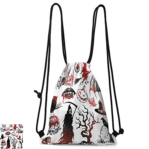 Swimming backpack Halloween Decorations Collection Halloween Objects Scary Retro Evil Dead Skeleton Witch and Magic Book Picture W14