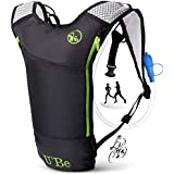 U`Be Hydration Pack Water Backpack - Camelback for Running Hiking Biking - Camel Backpack with 2l Water Bladder