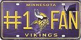 NFL Minnesota Vikings #1 Fan Metal License Plate Tag