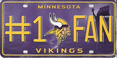 - NFL Minnesota Vikings #1 Fan Metal License Plate Tag
