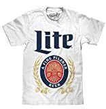 mens beer tshirts - Vintage Miller Lite White T-Shirt-Large White