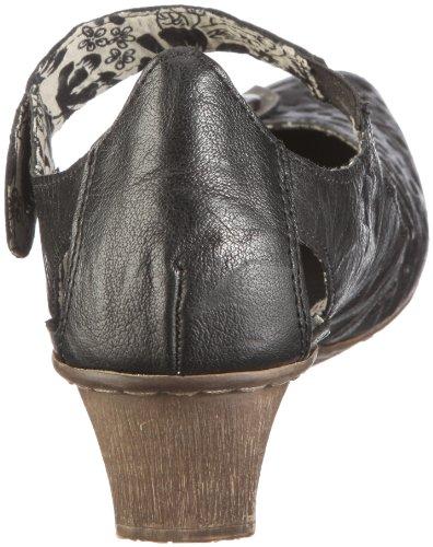 Noir 49772 Escarpins Combiné Mirjam Noir femme Rieker UCXR6wqR