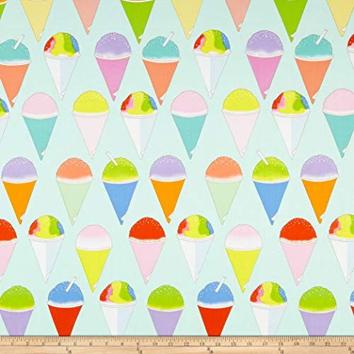 Henry Mint - Alexander Henry Snow Cone Mint Fabric Fabric by the Yard
