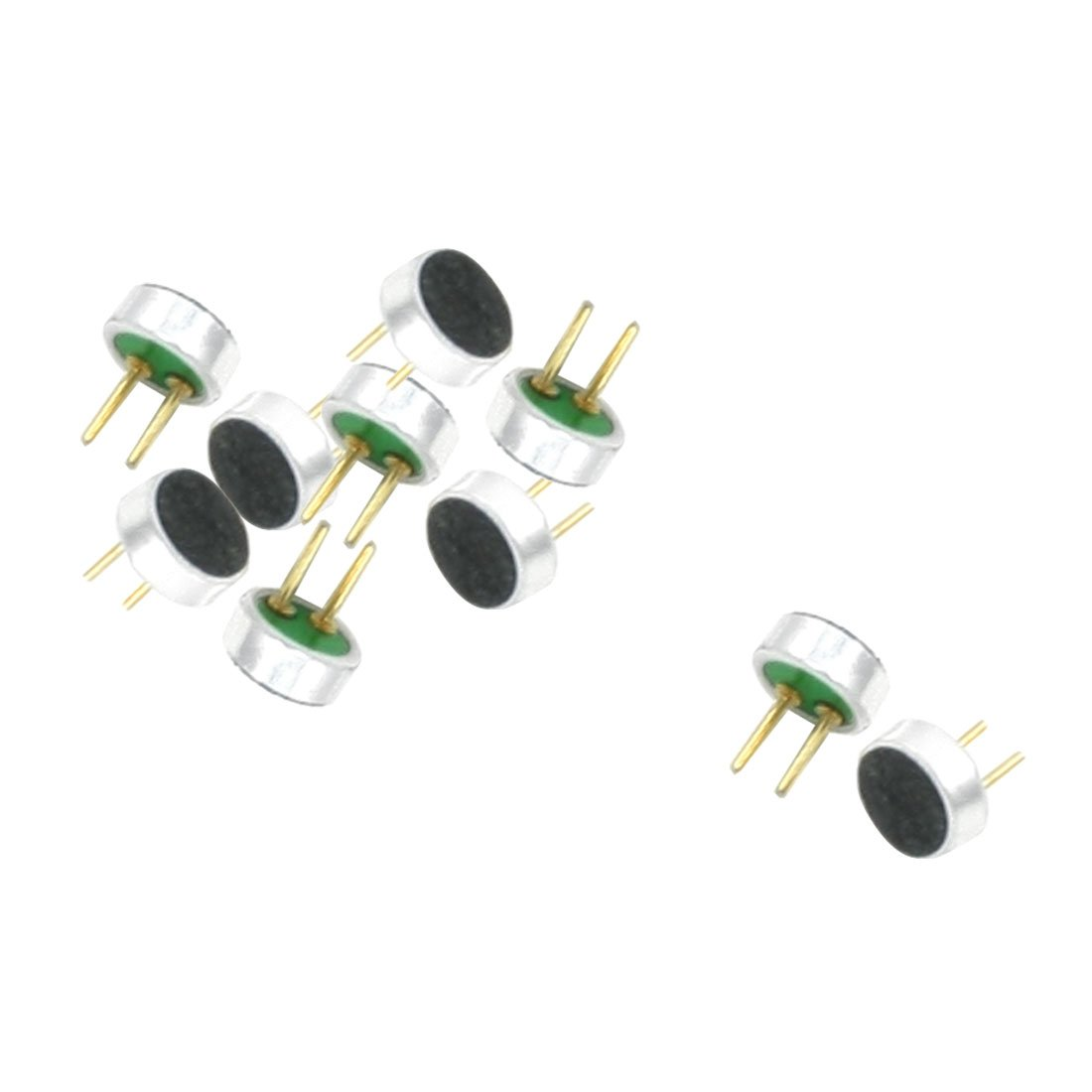 10pcs 2P Electret Condenser MIC Capsule 4mm x 2mm for PC Phone MP3 MP4
