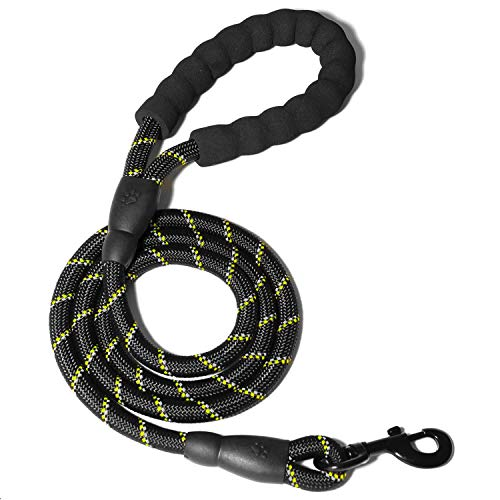 WePet Strong Dog Leash with Comfortable Foam Handle and Highly Reflective Threads with Metal Clasp and Rubber Enhanced…