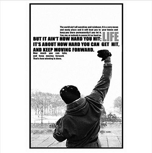 Yhnjikl Rocky Balboa Motivación Inspirada Película Arte Seda