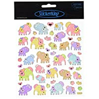 Tattoo King Multi-Colored Stickers-Patterned Elephants