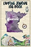 Camping Journal Logbook, Minnesota: The Ultimate Campground RV Travel Log Book for Logging Family Adventures and trips at campgrounds and campsites (6 x9) 145 Guided Pages