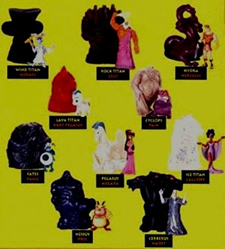 1996 Mcdonalds Happy Meal Toys Walt Disney 10 Piece Hercules TOY Figurines Set ()