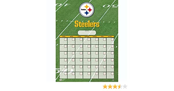 Turner Perfect Timing Pittsburgh Steelers Jumbo Dry Erase Sports Calendar 8921020