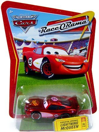 Race O-rama Series (Disney / Pixar CARS Movie 1:55 Die Cast Car Series 4 Race-O-Rama Radiator Springs Lightning McQueen (Pink Paint Variation))