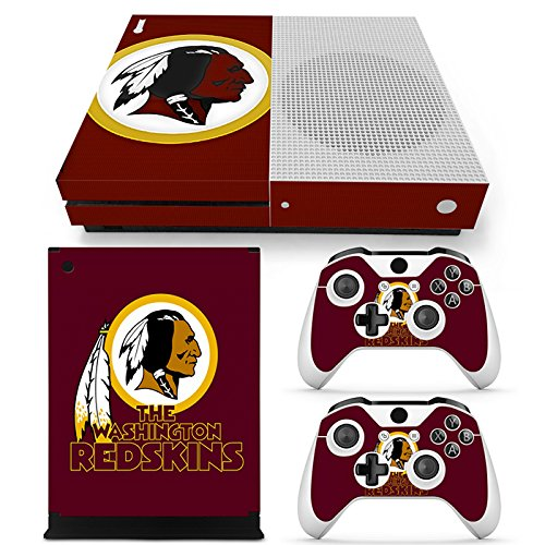 FriendlyTomato Xbox One S Console and Wireless Controller Skin Set - Football NFL - XboxOne S Vinyl - Nfl Washington Redskins Controller