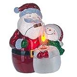 Midwest-CBK Santa with Snowman Roasting Marshmallows Flicker Night Light.