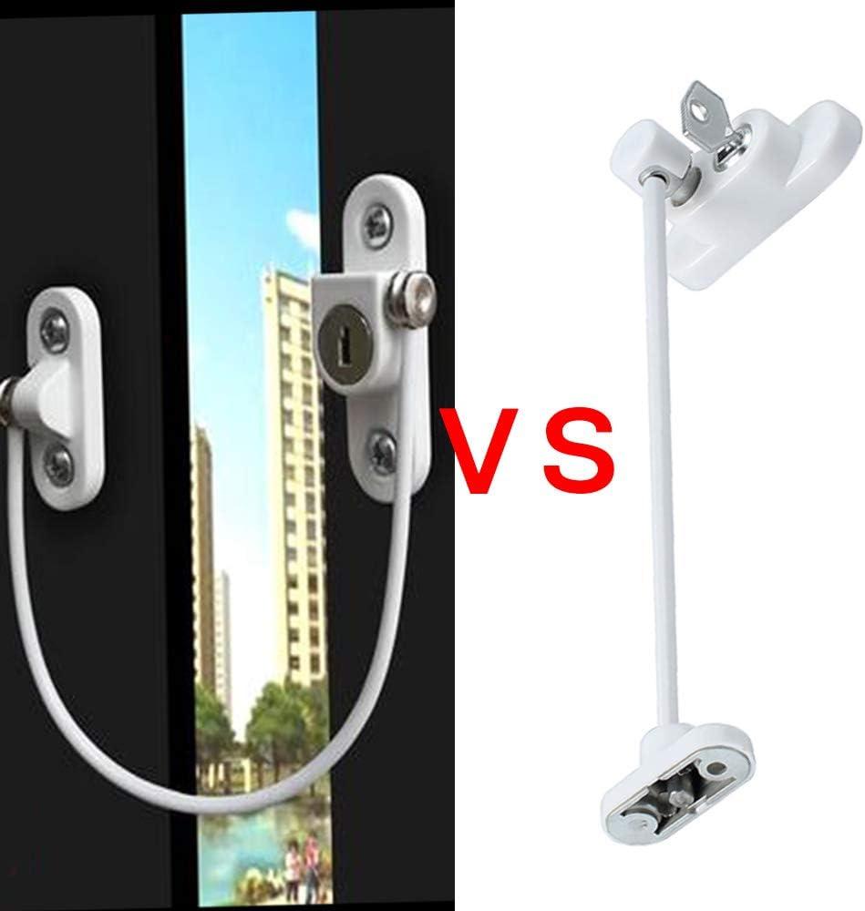 Window Restrictor Locks 8 Packs Security Cable for Child Baby Safety Window Locks Door Locks with Screws Keys