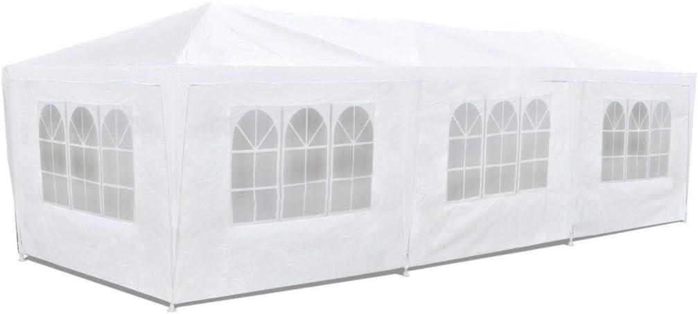 Carpa pabellón 3x9 con laterales. Económico. Color blanco: Amazon.es: Jardín