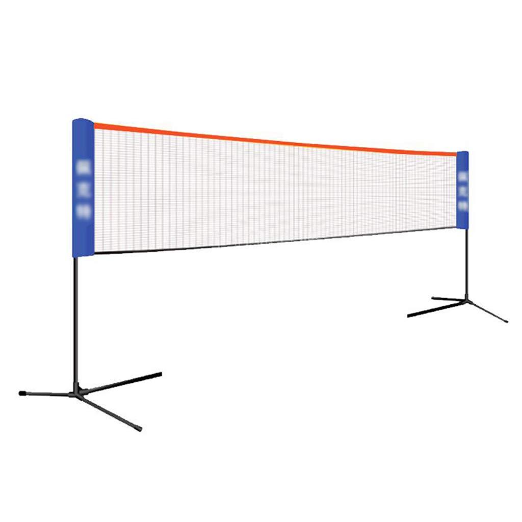 Netze Folding Tennis Stehen Badminton Net Rack Tragbare Falten Einfache Standard Mobile Venue Outdoor Net (Farbe   schwarz, Größe   Net Width410cm) B07MD1KWTT Netze Wartungsfähigkeit