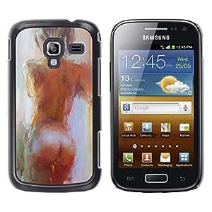For Samsung Galaxy Ace 2 I8160 / Ace2 II XS7560M Case , Art Act Woman Naked Oil - Diseño Patrón Teléfono Caso Cubierta Case Bumper Duro Protección Case Cover Funda