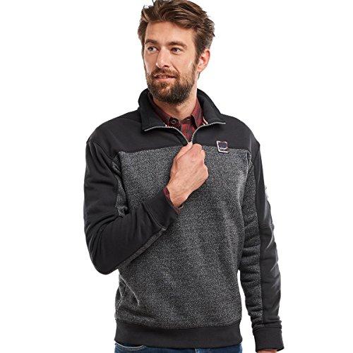 engbers Herren Sweatshirt im Materialmixdesign, 24081, Grau