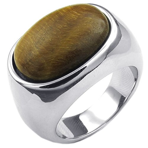 KONOV Stainless Steel Classic Silver