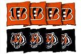 Victory Tailgate 8 Cincinnati Bengals NFL Football Regulation Corn Filled Cornhole Bags