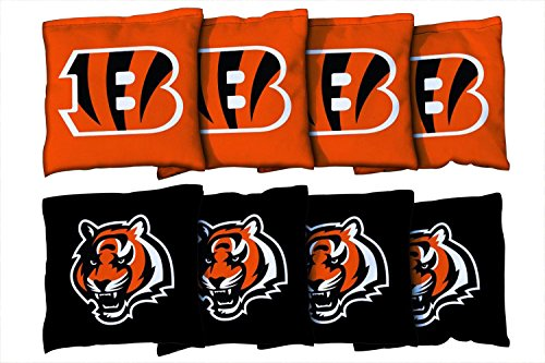 8 Cincinnati Bengals NFL Football Regulation Corn Filled Cornhole ()