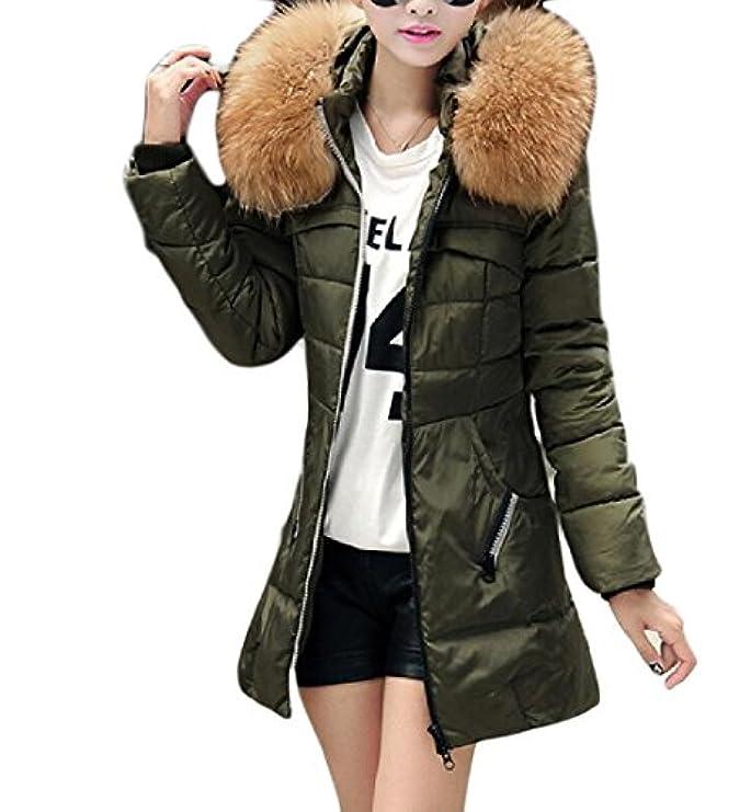 Women Plus Fit Collo Quilted Jacket Sheng Size Addensato Pelliccia Di Xi Mid Tg5wHq6