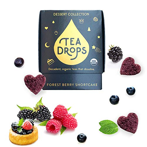 Berry Dessert - Sweetened Organic Loose Leaf Tea | Caffeine Free Forest Berry Shortcake Tea | 10 Servings of Decadent Dessert Teas Without the Calories | Delicious Hot or Iced | By Tea Drops