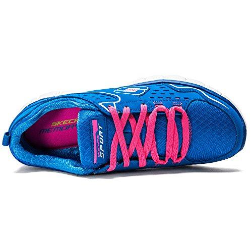 Skechers Sport Donna Sinergia Un Lister Fashion Sneaker Blu / Rosa Caldo