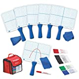 EAI Education Double-Sided X-Y Coordinate Grid Dry-Erase Paddles Kit