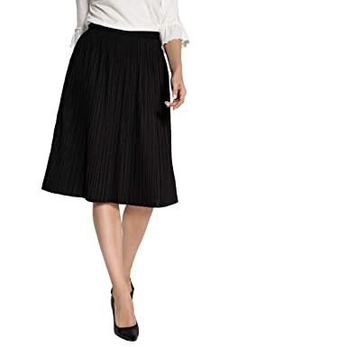 La Redoute Womens Knee-Length Pleated Skirt at Amazon Women s Clothing store   32fdecef1395