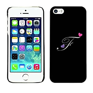 Style Protective Case Hard Shell Cover for Cellphone Iphone 5 5S Black Initials Letter Calligraphy Text ka ka case