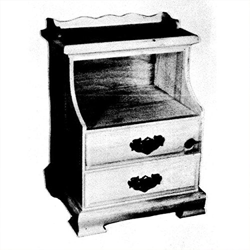 Woodworking Project Paper Plan to Build Double Drawer Night Stand - Bedside Table Plans