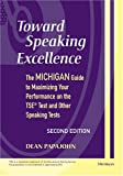 Toward Speaking Excellence, Dean Papajohn, 0472030868
