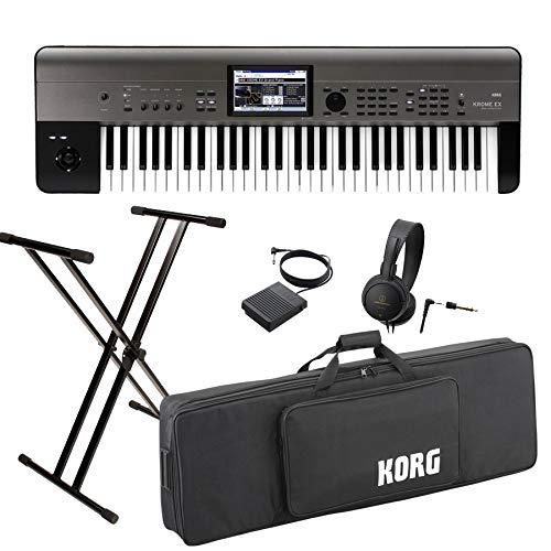 KORG コルグ/KROME 61EX【スタートセット!】61鍵盤ワークステーション   B07NGJHT7J