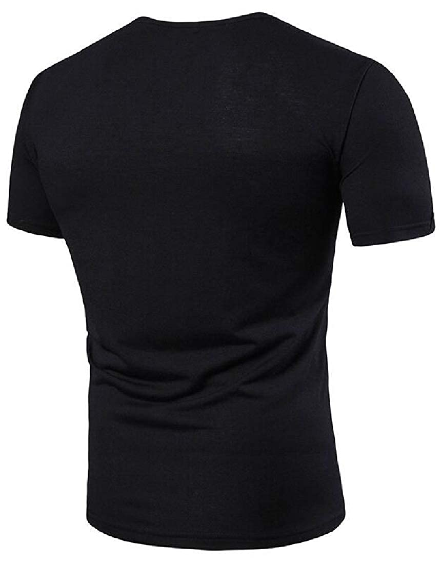 Beloved Mens Henley Summer T Shirts Casual Slim Short Sleeve with Button