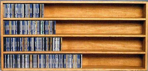 Solid oak CD Wall Mount Cabinet - 472 CDs (honey oak) (24.75''H x 52''W x 6.75''D) by Wood Shed (Image #2)