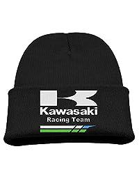 Kawasaki Racing Team Warm Winter Hat Knit Beanie Skull Cap Cuff Beanie Hat Winter Hats Kids