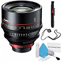 Canon CN-E 135mm T2.2 L F Cinema Prime Lens (EF Mount) (International Model no Warranty) + Deluxe Cleaning Kit + Lens Cap Keeper 6AVE Bundle 4