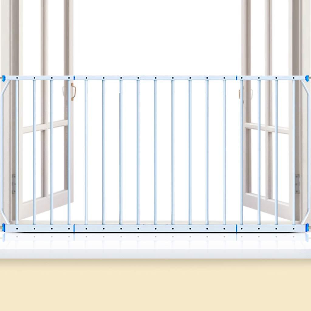 ベビーゲート 子供のためのエクストラワイドウィンドウガード穴のない設置幼児の安全ウィンドウゲートバーホワイトメタル、高さ77、幅165-230 cm   B07R33JTHM