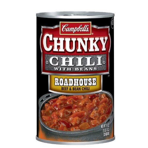 - Campbell's Roadhouse Chili Beef and Bean Soup, 19-Ounce (Pack of 6)