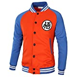 Topictex Dragon Ball Z GOKU Adult Zip Hooded Sweatshirt (L, Orange)
