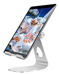Oenbopo Universal Portable Silver Aluminum Anti-Slip Support Holder Stand for Tablet and Smartphone Compact size, portable and easy to carry 270 Degree Rotation design for comfortable viewing, adjustable, supporting both vertical and horizont...