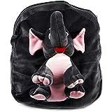 DZert?? Gray Velvet Soft Toy Plush Backpack Cartoon Unisex School Bag
